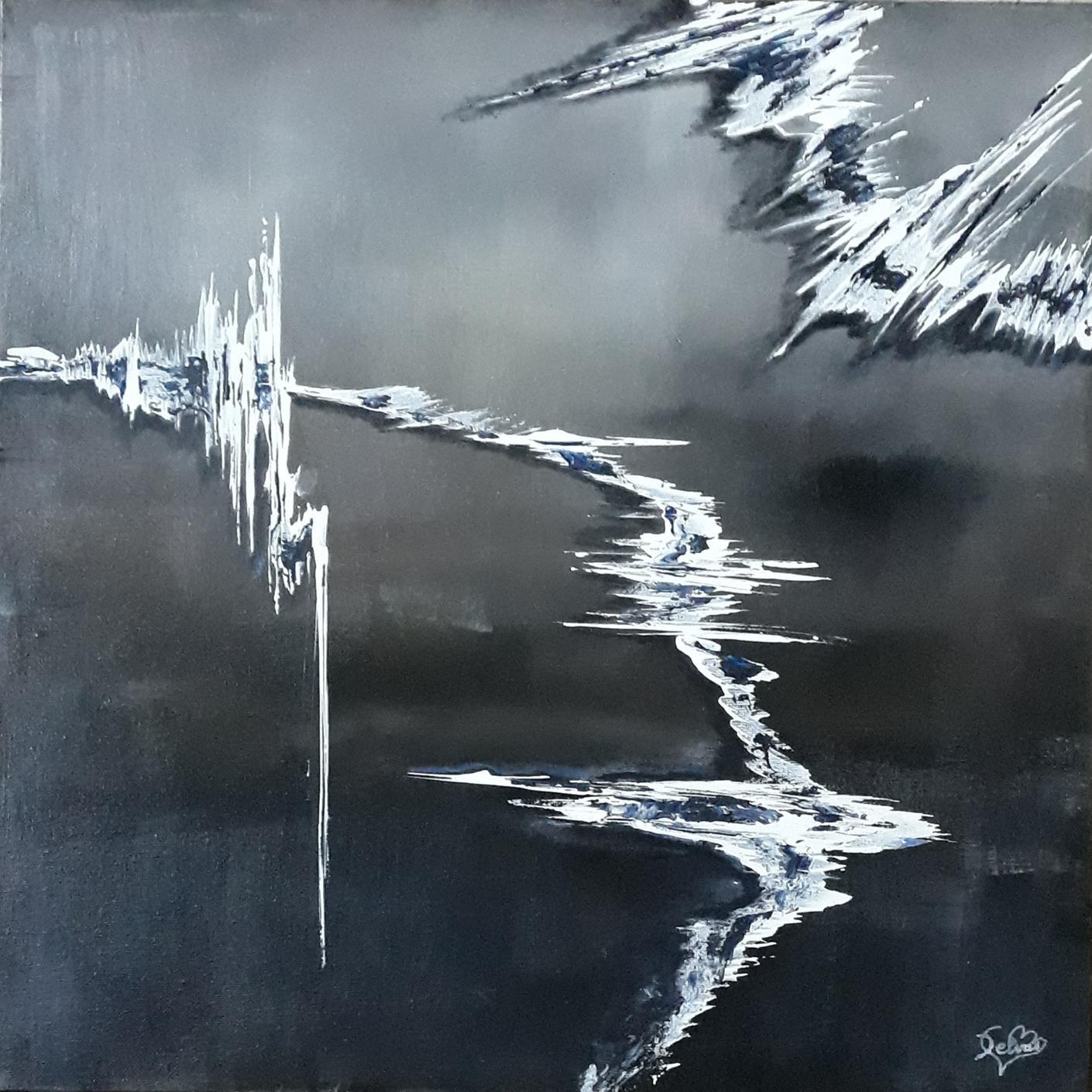 Blanc et noir 50x50 cm