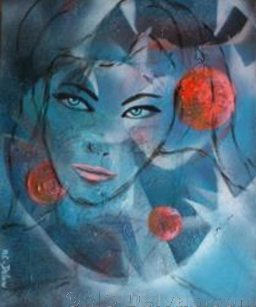 Femme du cosmos (65x54)