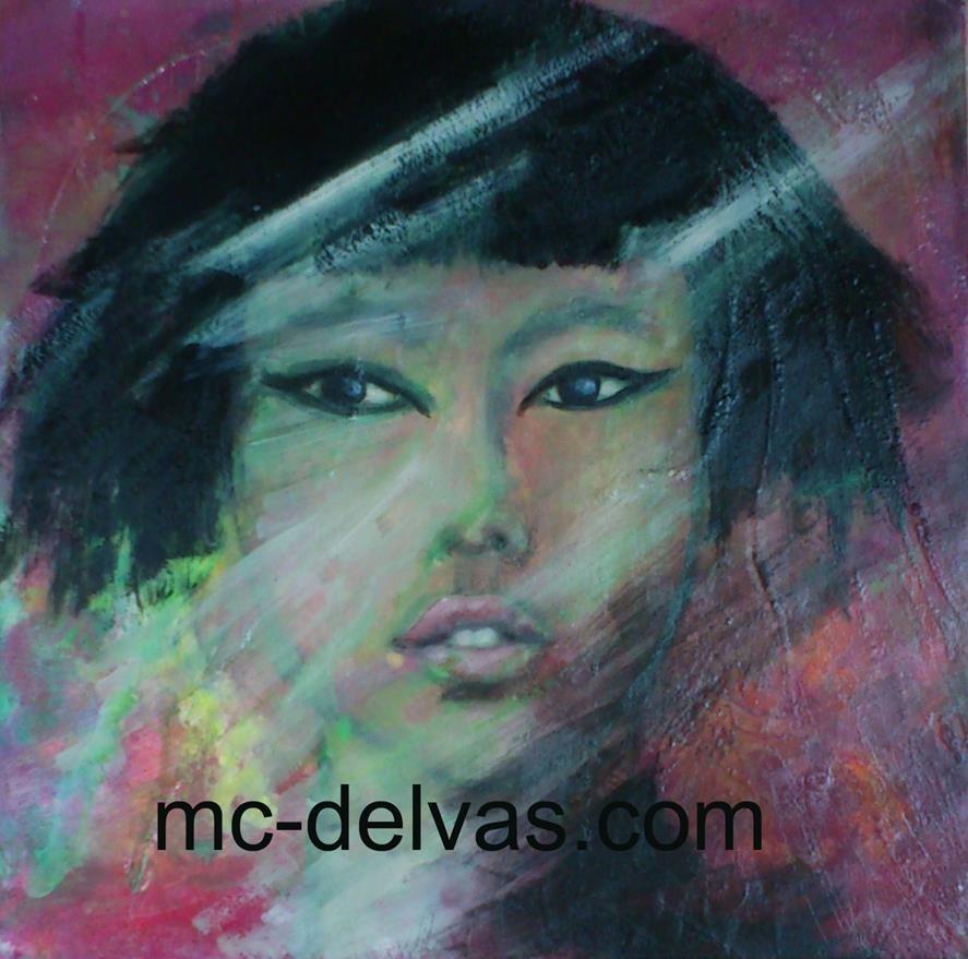 Portrait serenite (40x40)